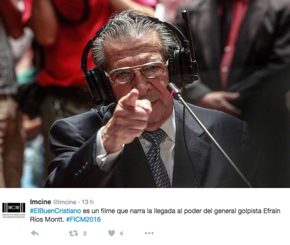 Se trata del documental El Buen Cristiano, que narra cómo el general Efraín Ríos Montt toma el poder . (Foto: Twitter/Imcine)