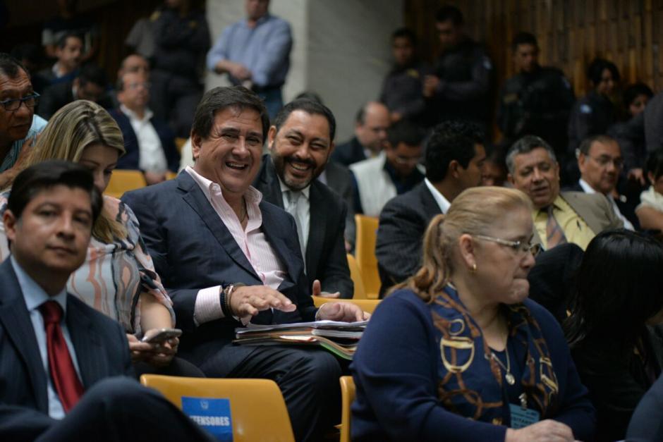 Algunos de los sindicados se mostraron de buen ánimo durante la audiencia. (Foto: Wilder López/Soy502)