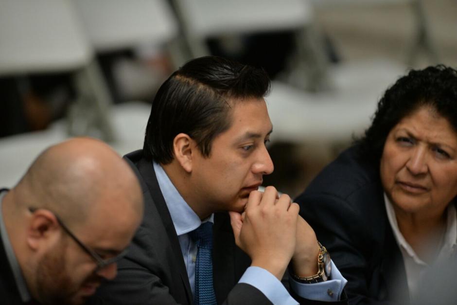 El exabogado de Roxana Baldetti, Mario Cano durante la jornada 25 de audiencia de primera declaración. (Foto: Wilder López/Soy502)
