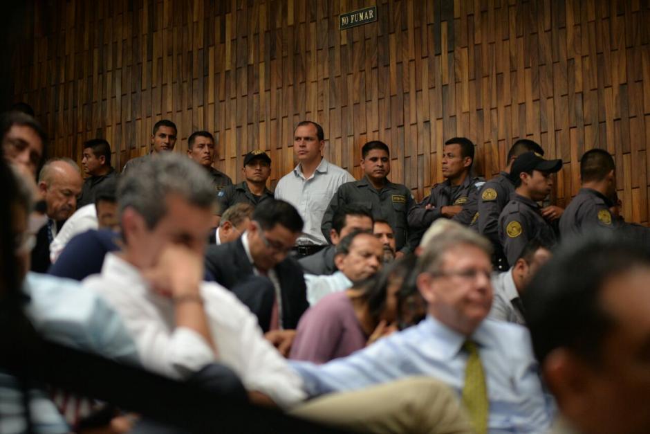 El exministro de Cultura y Deportes, Dwight Pezarossi durante la jornada 25 de la audiencia de primera declaración. (Foto: Wilder López/Soy502)