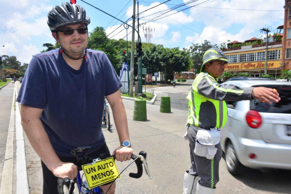 Los ciclistas salieron a las calles a celebrar el Día Sin Autos. (Foto: Jesús Alfonso/Soy502)