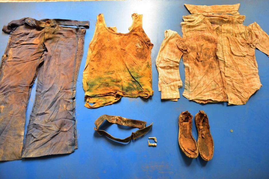 La muestra fue diversa, como la ropa de esta víctima que se conserva en su estado original. (Foto: Jesús Alfonso/Soy502)