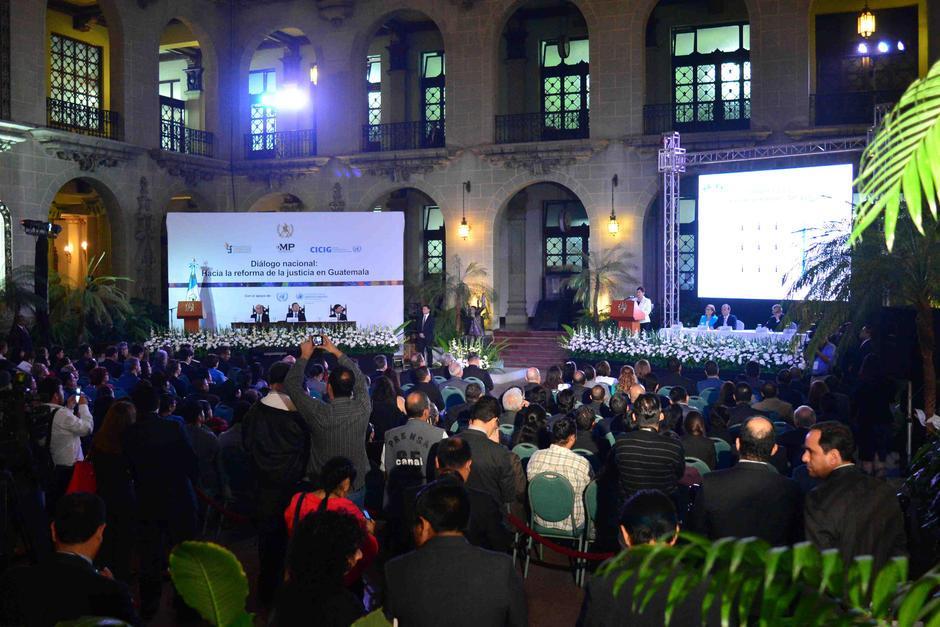 El miércoles se presentó las propuestas de Reformas Constitucionales en el Patio de la Paz. (Foto: Jesús Alfonso/Soy502)