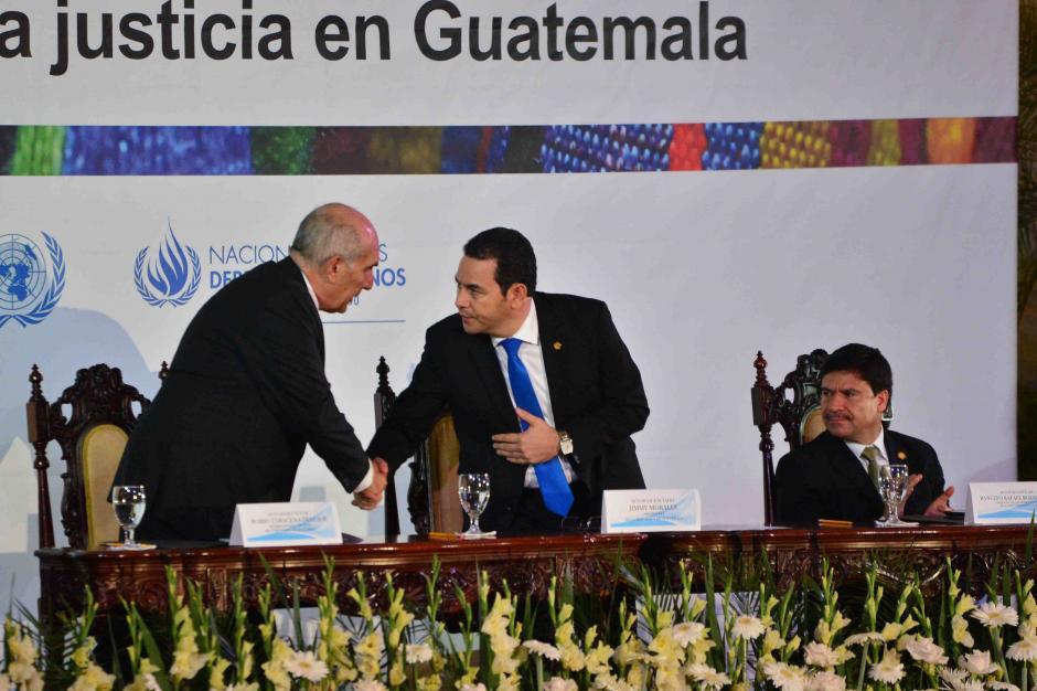 La presentación se realizó en el Patio de la Paz del Palacio Nacional de la Cultura. (Foto: Jesús Alfonso/Soy502)