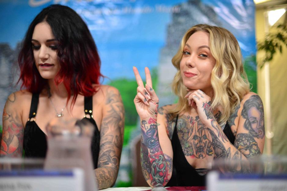 Cervana Fox y Megan Massacre son las invitadas de honor del Expo Tattoo 2016. (Foto: Jesús Alfonso/Soy502)