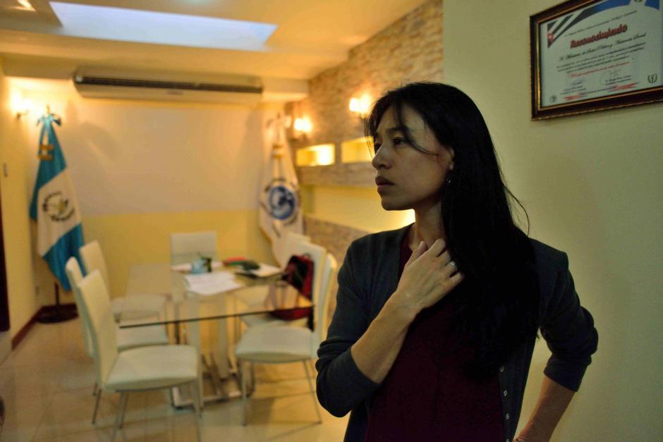 Lucrecia Hernández Mack es la primera mujer frente a la cartera. (Foto: Jesús Alfonso/Soy502)