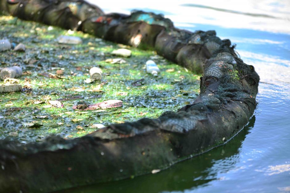 Una red contiene los desechos sólidos. (Foto: Jesús Alfonso/Soy502)