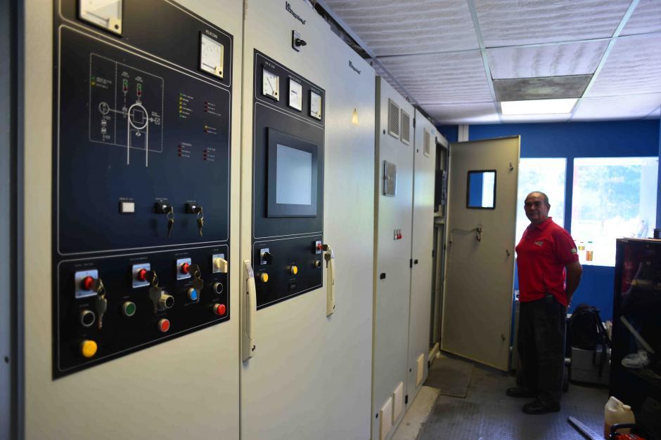 Este es el cuarto de control del Teleférico ubicado en la parte baja. (Foto: Jesús Alfonso/Soy502)
