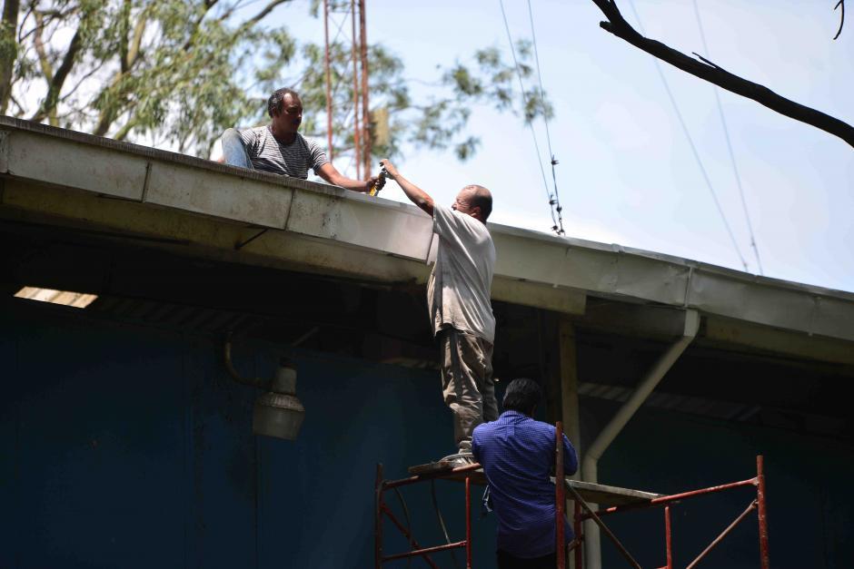 Este es uno de los trabajos de reparación que se están realizado en las instalaciones del teleférico. (Foto: Jesús Alfonso/Soy502)