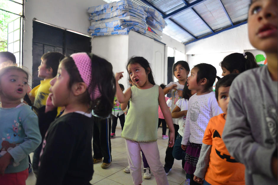 La escuela de preprimaria ubicada en la colonia Plaza de Toros tiene un solo maestro. (Foto: Jesús Alfonso/Soy502)