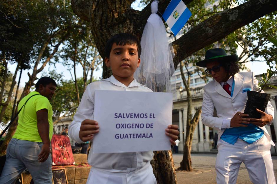 El artista hace un llamado a todos los guatemaltecos a cuidar los recursos naturales con los que contamos. (Foto: Jesús Alfonso/Soy502)