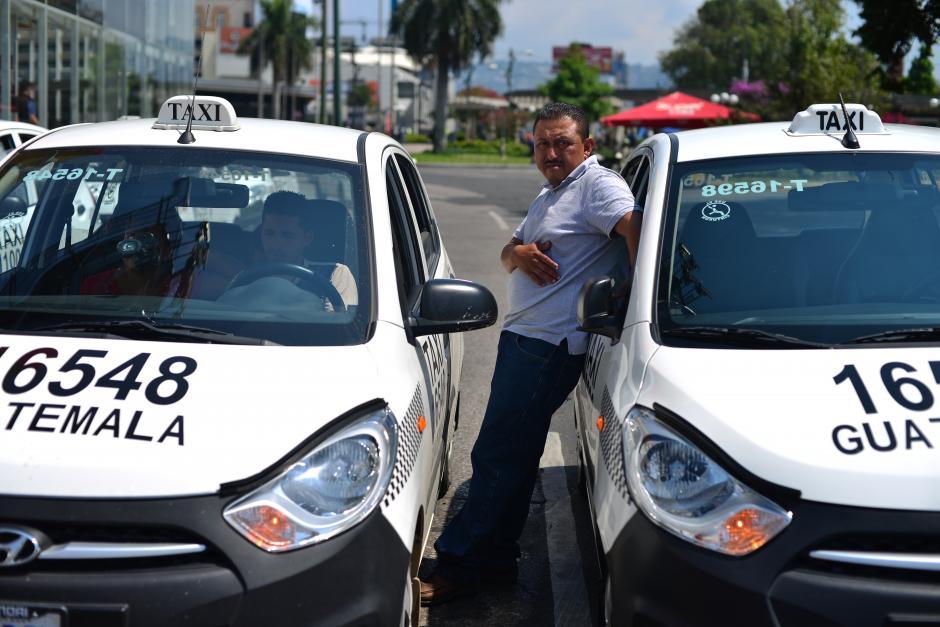 Los taxistas protestaron desde el Parque Central hasta el Obelisco. (Foto: Jesús Alfonso/Soy502)