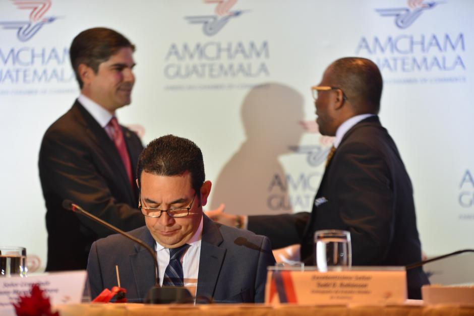 Jimmy Morales anunció la contrapartida comprometida con el Gobierno de EE.UU. por la ayuda del Plan para la Prosperidad. (Foto: Jesús Alfonso/Soy502)