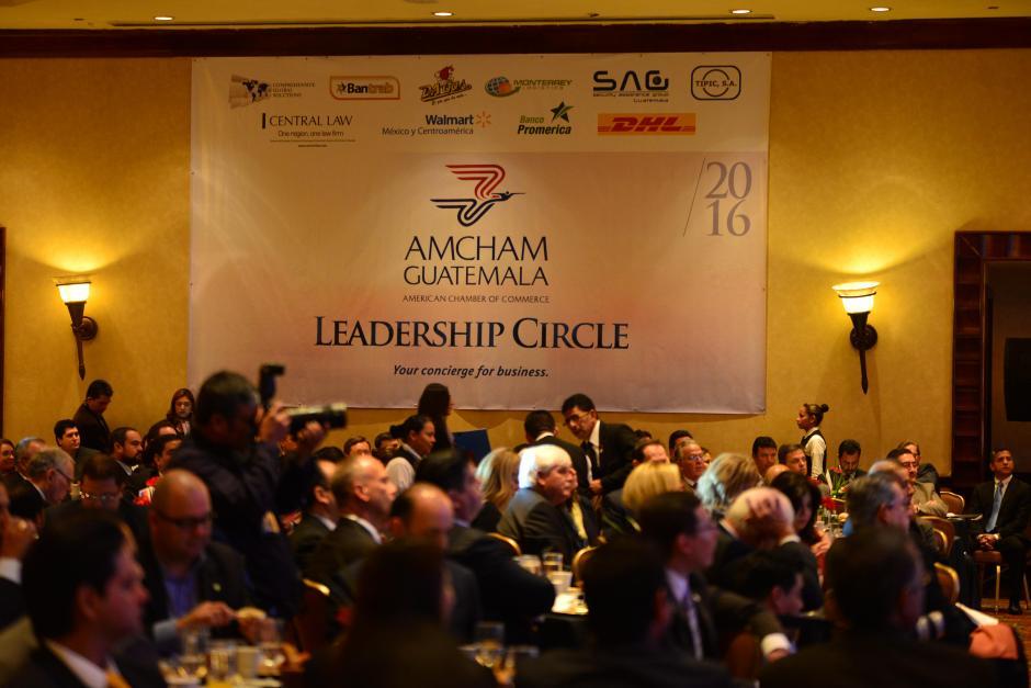 Cientos de empresarios acudieron al encuentro con el recién presidente. (Foto: Jesús Alfonso/Soy502)