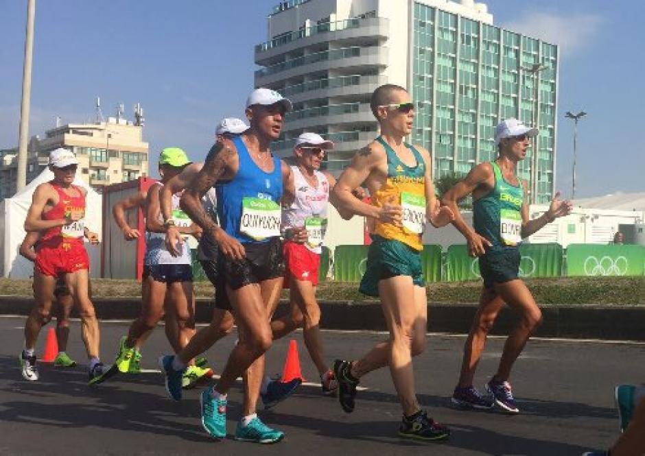 Jaime Quiyuch participó en la prueba de 50 kilómetros marcha. (Foto: Pedro Pablo Mijangos/Soy502)