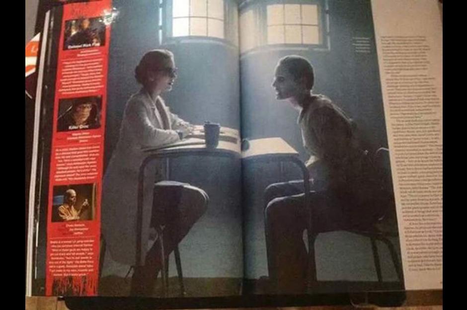 En esta edición especial de la publicación también vemos al Guasón siendo interrogado por Harley Quinn. (Foto: Empire)