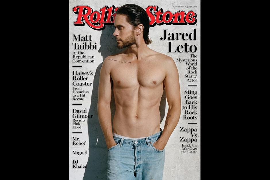 Jared posa sin camisa en la nueva portada de la revista. (Foto: Rolling Stone)