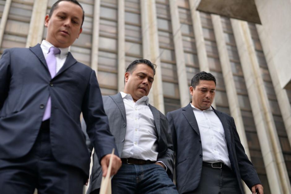 El jefe del bloque FCN, Javier Hernández, se presentó como testigo a la Torre de Tribunales. (Foto: Wilder López/Soy502)