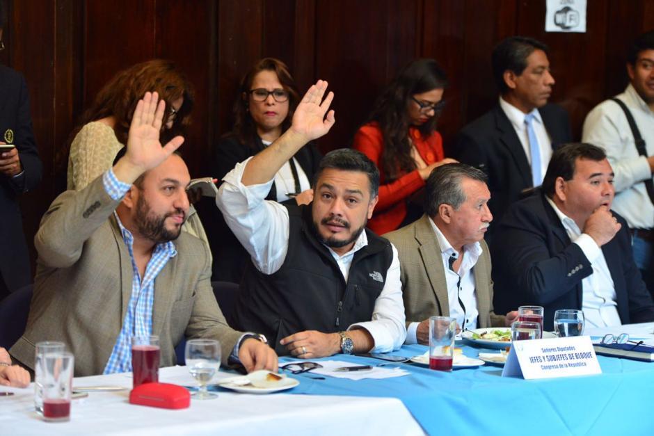 Los jefes de bloque acordaron hacer sesiones adicionales para discutir las reformas constitucionales. (Foto: Jesús Alfonso/Soy502)