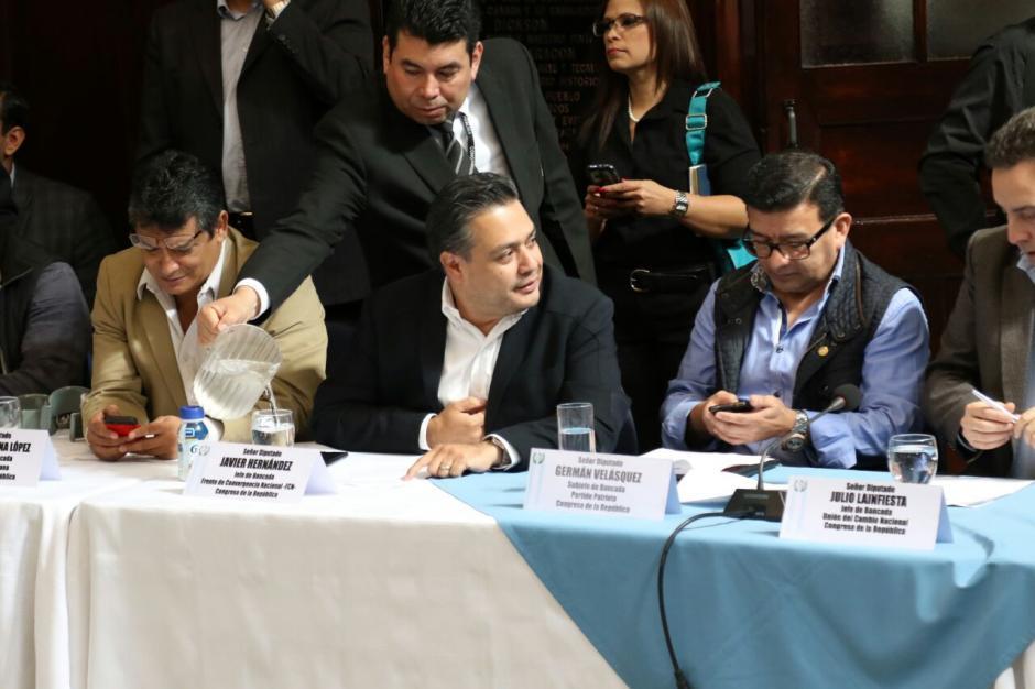FCN encabezó las negociaciones para relevar a Taracena en la presidencia del Congreso. (Foto Alejandro Balán/Soy502)