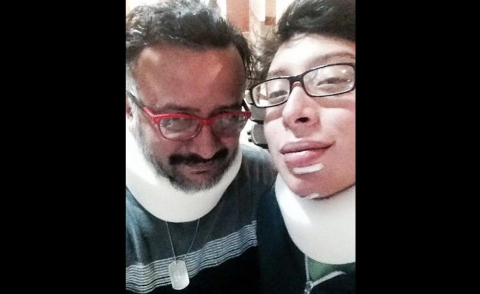Javier y su familia sufrieron algunos golpes. (Foto: Javier Payeras)