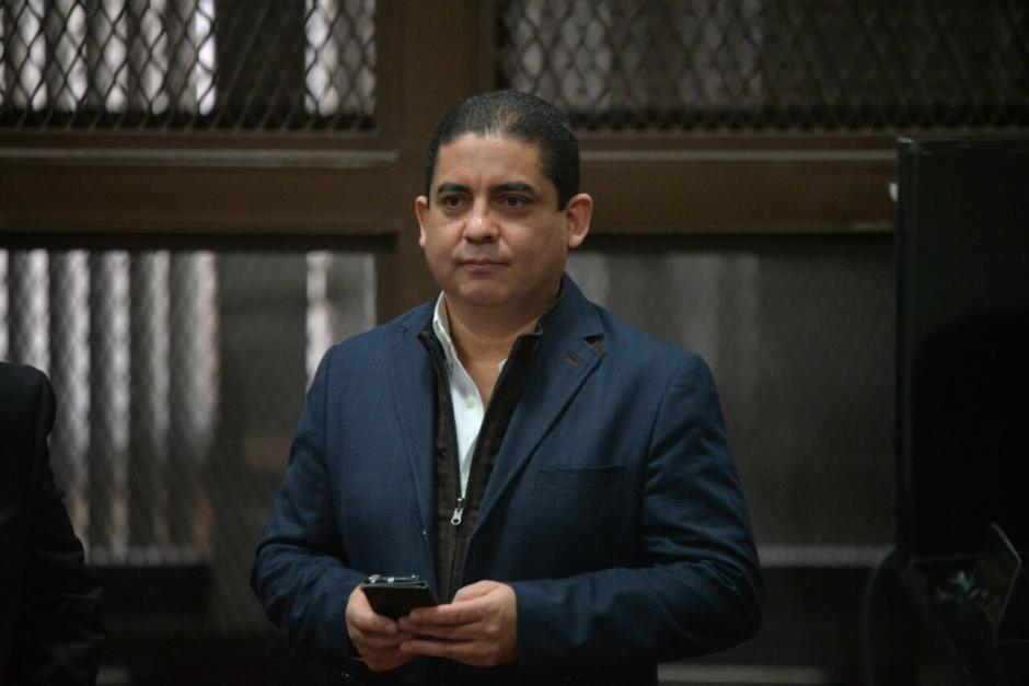 Juan Carlos Monzón llegó a Tribunales para una revisión de medida.  (Foto: Wilder López/Soy502)