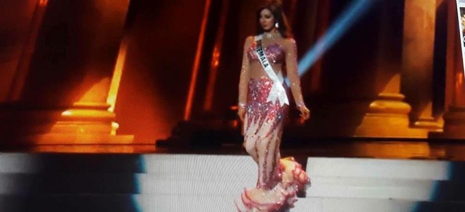 Jeimmy se inspira en su baile favorito, el flamenco, con este vestido. (Foto: Miss Guatemala)