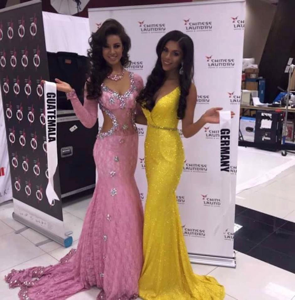 Guatemala y Alemania juntas para sesión fotográfica en traje de gala. (Foto: Miss Guatemala US)