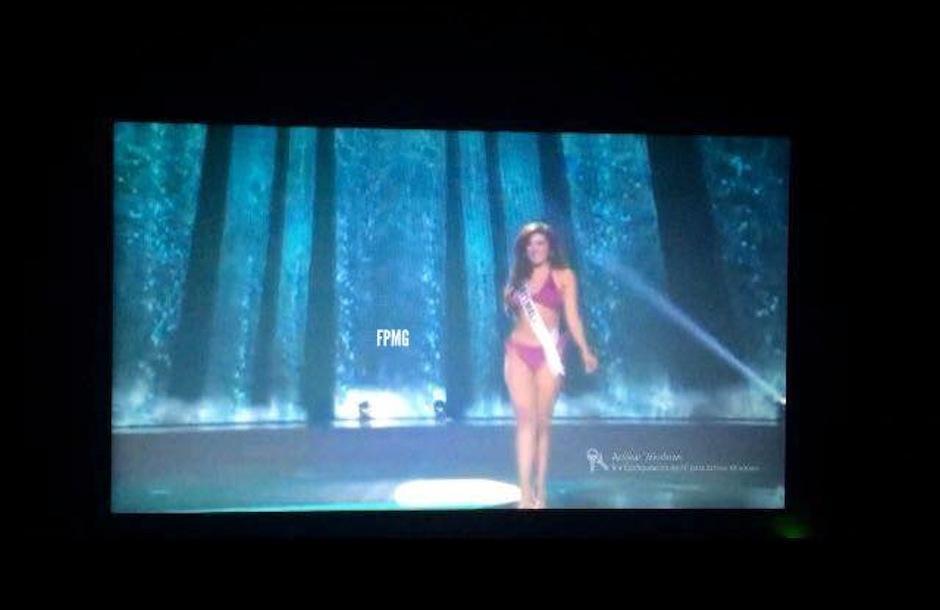 Miss Guatemala se luce al caminar. (Foto Miss Guatemala)