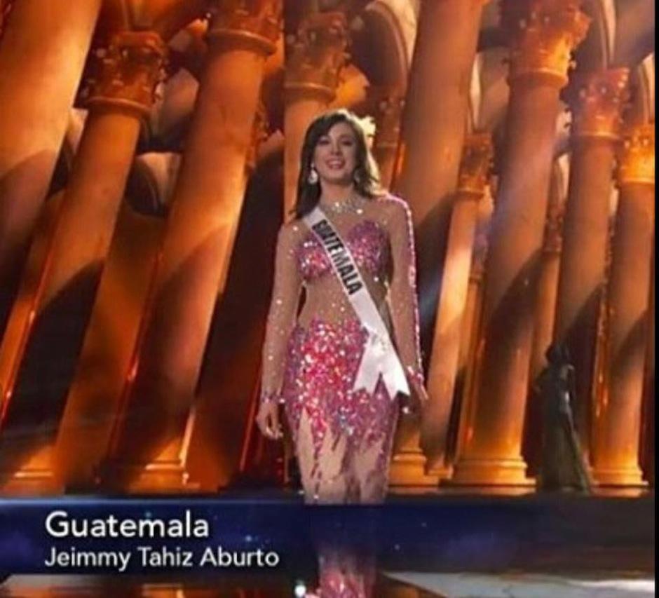 Jeimmy usó un vestido con transparencias. (Foto: Miss Guatemala)
