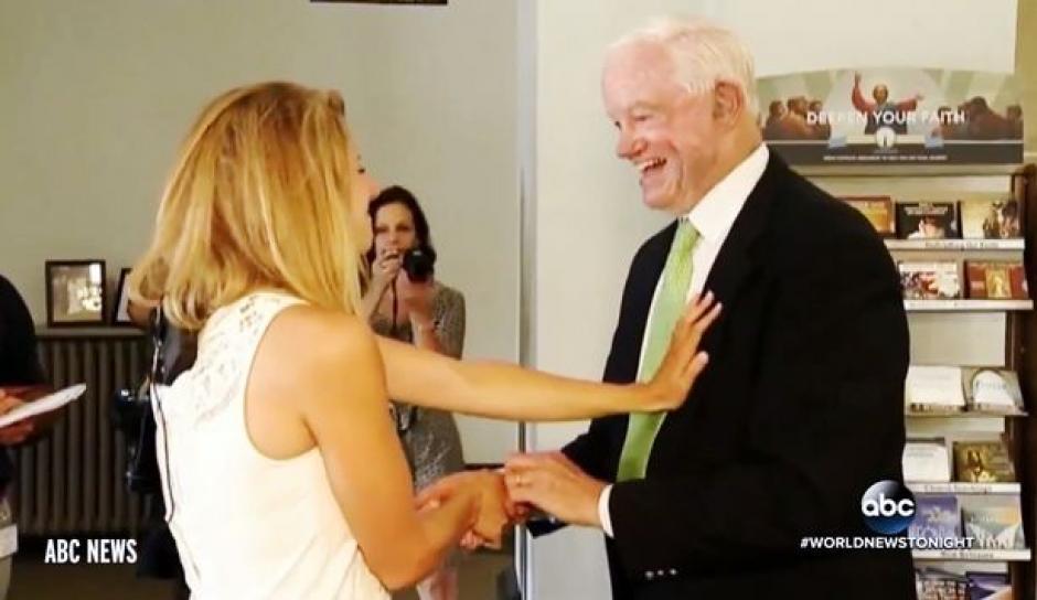 Ambos bromearon cómo si se conocieran de toda la vida. (Foto: ABC/YouTube)