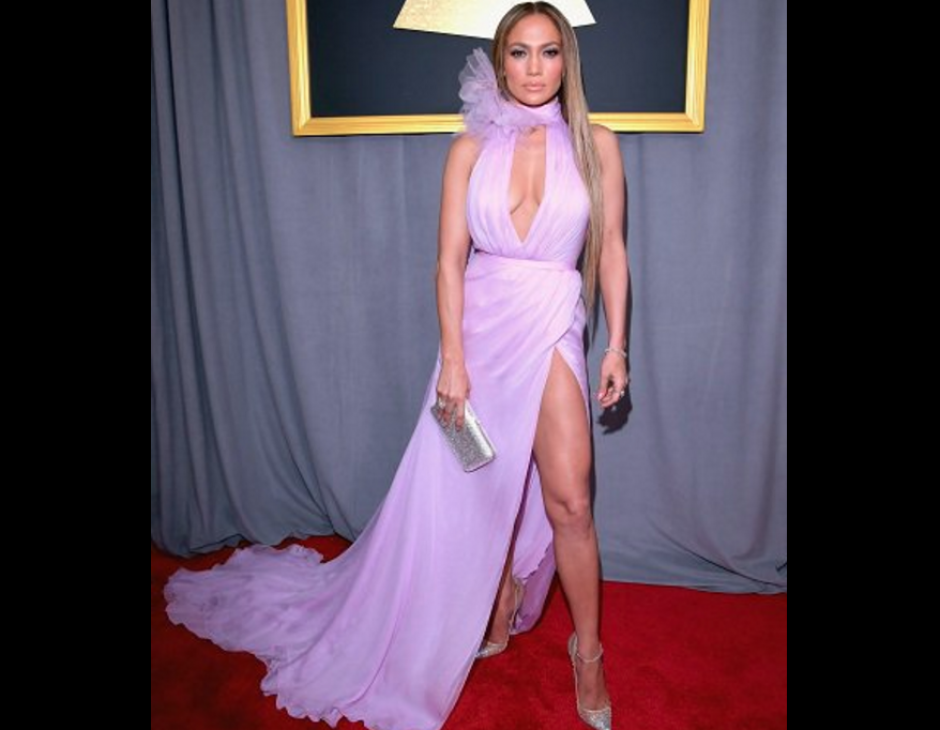 Así se miraba el vestido de Jennifer López. (Foto: TKM)
