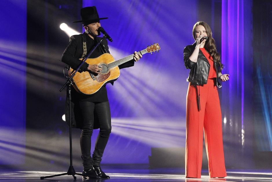 Jesse y Joy compartieron sus canciones en la gala. (Foto Juan Ignacio Mazzoni/EFE)