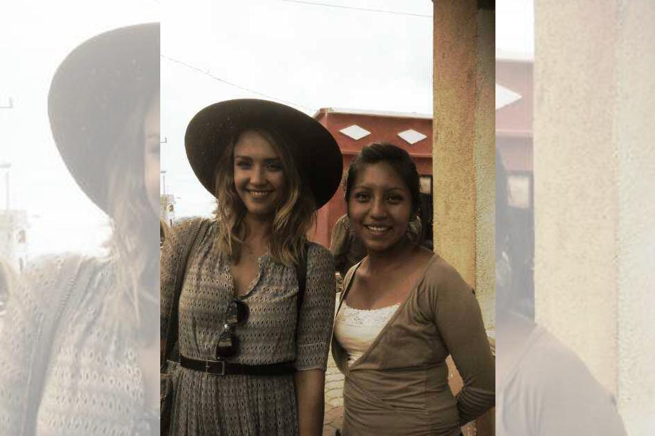 Jessica Alba se sorprendió de la fortaleza de las mujeres de Guatemala.