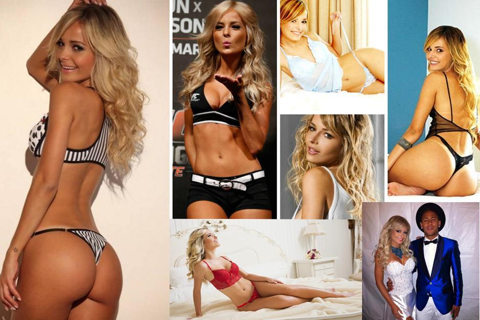 La modelo brasileña, Jhenny Andrade, estuvo muy juntita a Neymar en el festejo de año nuevo y algunos aseguran que serían pareja.