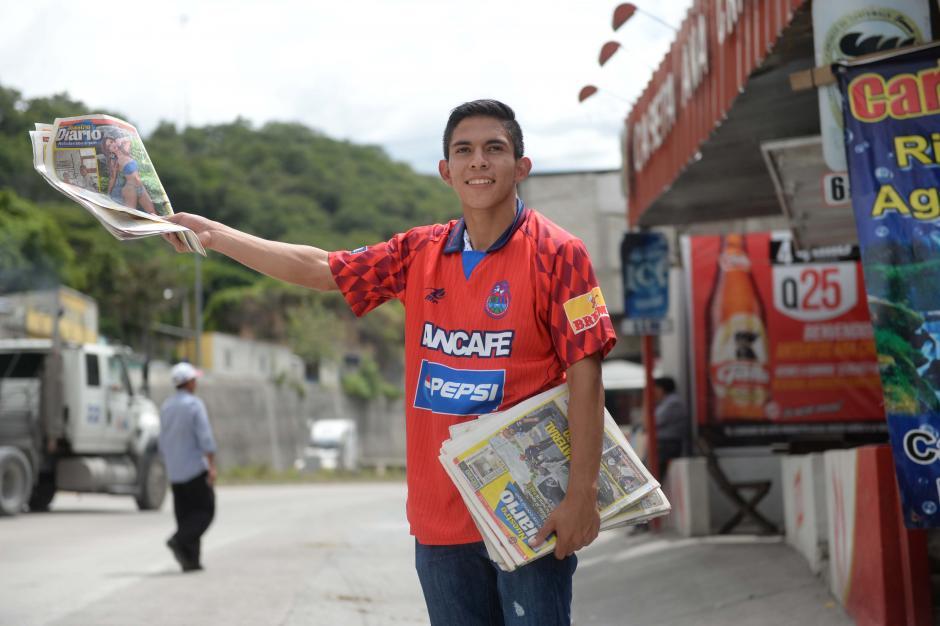 Méndez vendió periódicos casi seis años, en la Aldea Agua Caliente, El Progreso. (Foto: Diego Galiano/especial para Nuestro Diario)