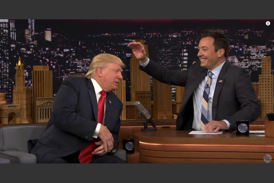 Donald Trump se presentó en el programa del comediante Jimmy Fallon. (Captura de pantalla: YouTube)