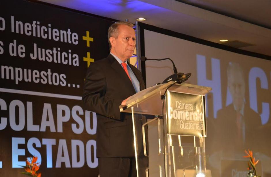 Jorge Briz, presidente de la Cámara de Comercio criticó al mandatario. (Foto: CCG)