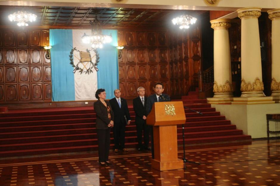 El mandatario ofreció conferencia de prensa en el Palacio Nacional. (Foto: Alejandro Balán/Soy502)