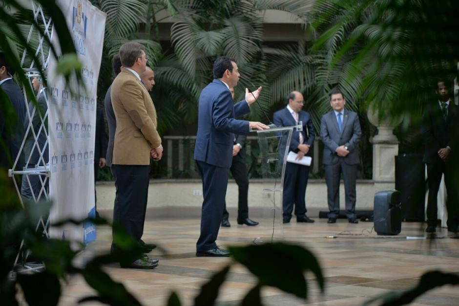 El presidente Jimmy Morales se refirió a los impuestos. (Foto: Wilder López/Soy502)