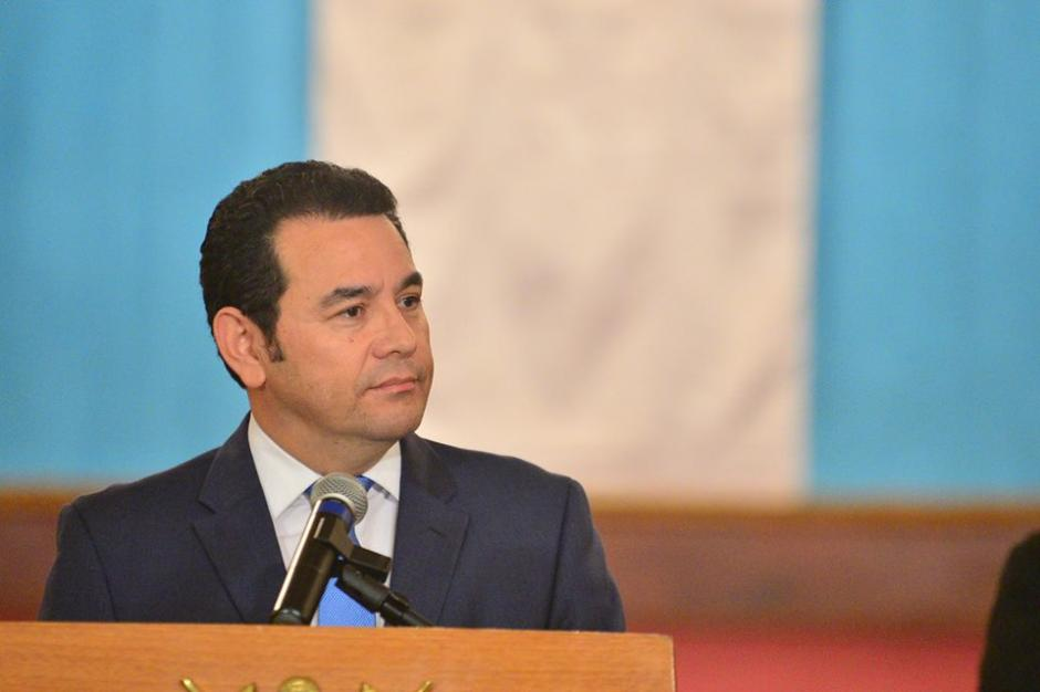 El presidente ofreció una conferencia de prensa para informar sobre los 11 días de su gobierno. (Foto: Wilder López/Soy502)