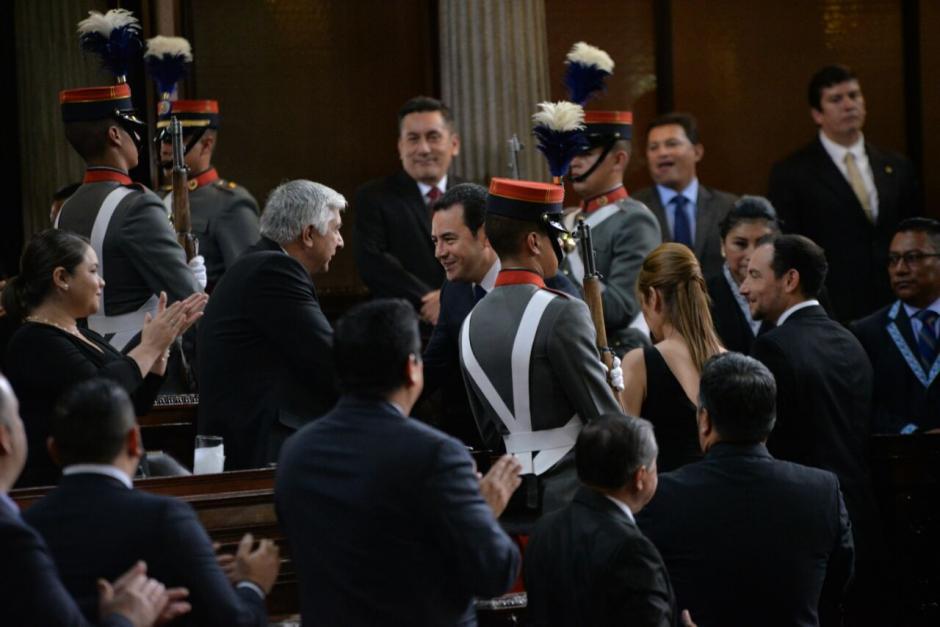 Poco más de 50 minutos duró su discurso. (Foto: Wilder López/Soy502)