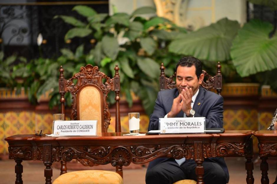 El presidente Jimmy Morales emitió otra polémica declaración. (Foto: Jesús Alfonso/Soy502)