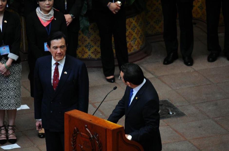 El presidente taiwanés, Ma Ying-jeou se encuentra de visita en Guatemala. (Foto: Alejando Balán/Soy502)