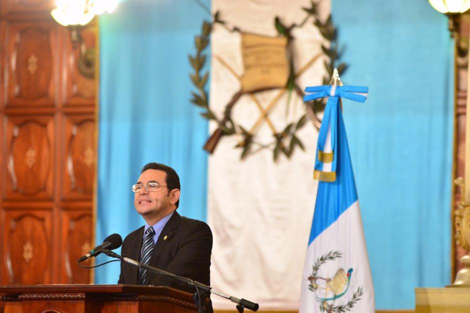 Jimmy Morales presentó su propuesta de reforma fiscal. (Foto: Jesús Alfonso/Soy502)
