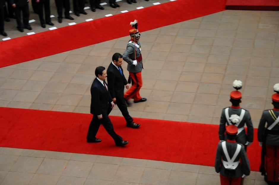 El presidente de China-Taiwán fue recibido por Jimmy Morales, presidente de Guatemala. (Foto: Alejando Balán/Soy502)