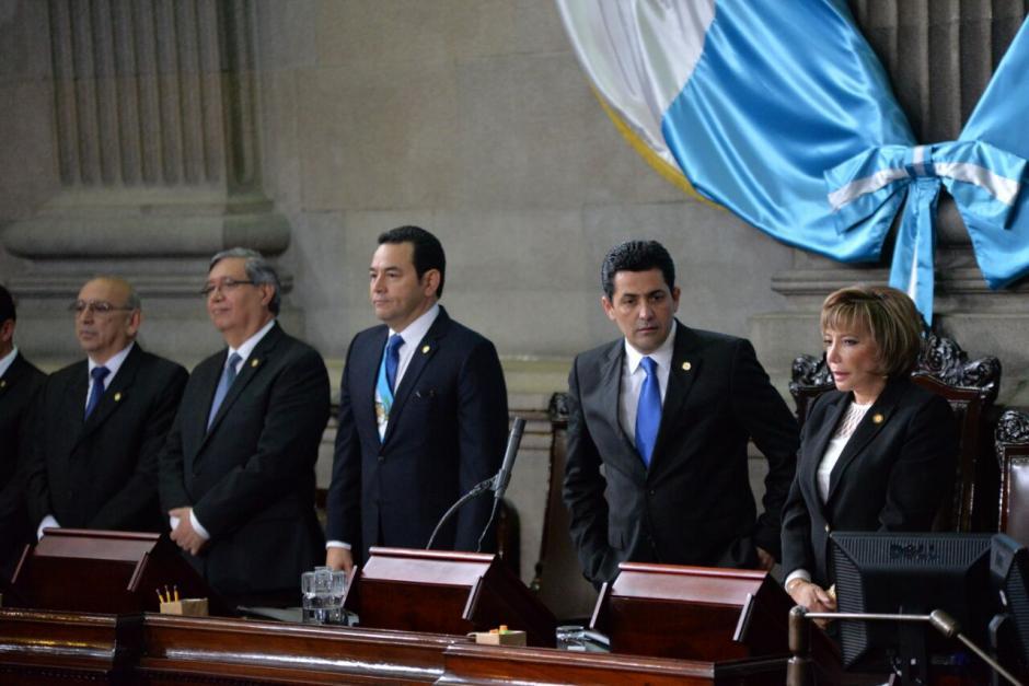 El mandatario ofreció su discurso del primer año de gobierno. (Foto: Wilder López/Soy502)
