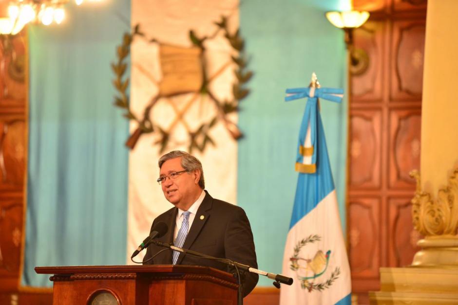 El Vicepresidente habló durante unos minutos. (Foto: Jesús Alfonso/Soy502)
