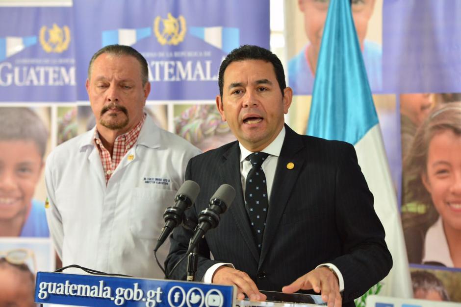 Jimmy Morales dijo que fueron muchas causas las que provocaron esta tragedia. (Foto: Jesús Alfonso/Soy502)