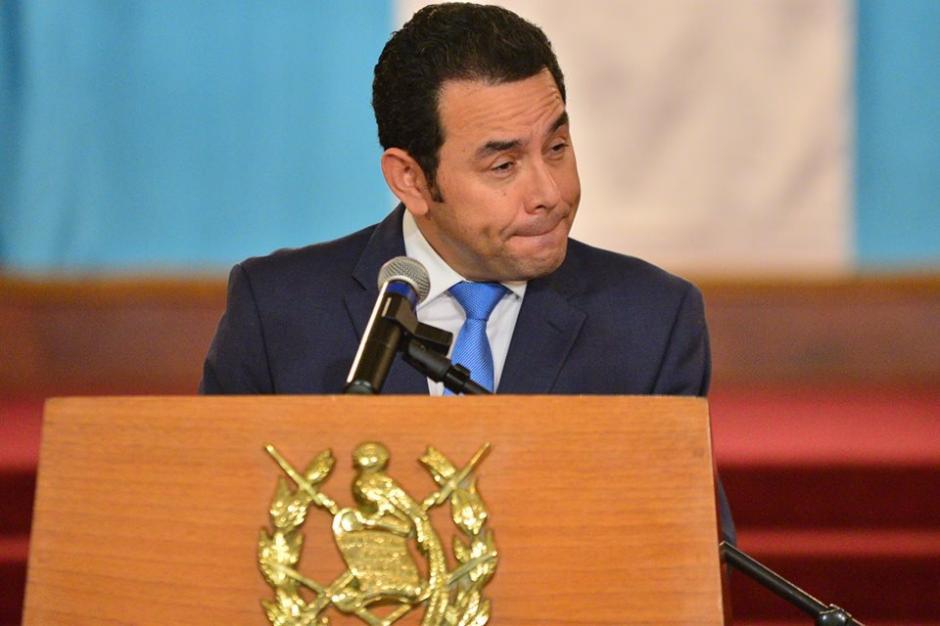 """El presidente evadió algunas respuestas con el argumento de """"lo dice la Ley"""". (Foto: Wilder López/Soy502)"""